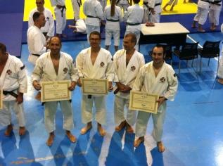 Fran, Jose María y Luis con Alberto,